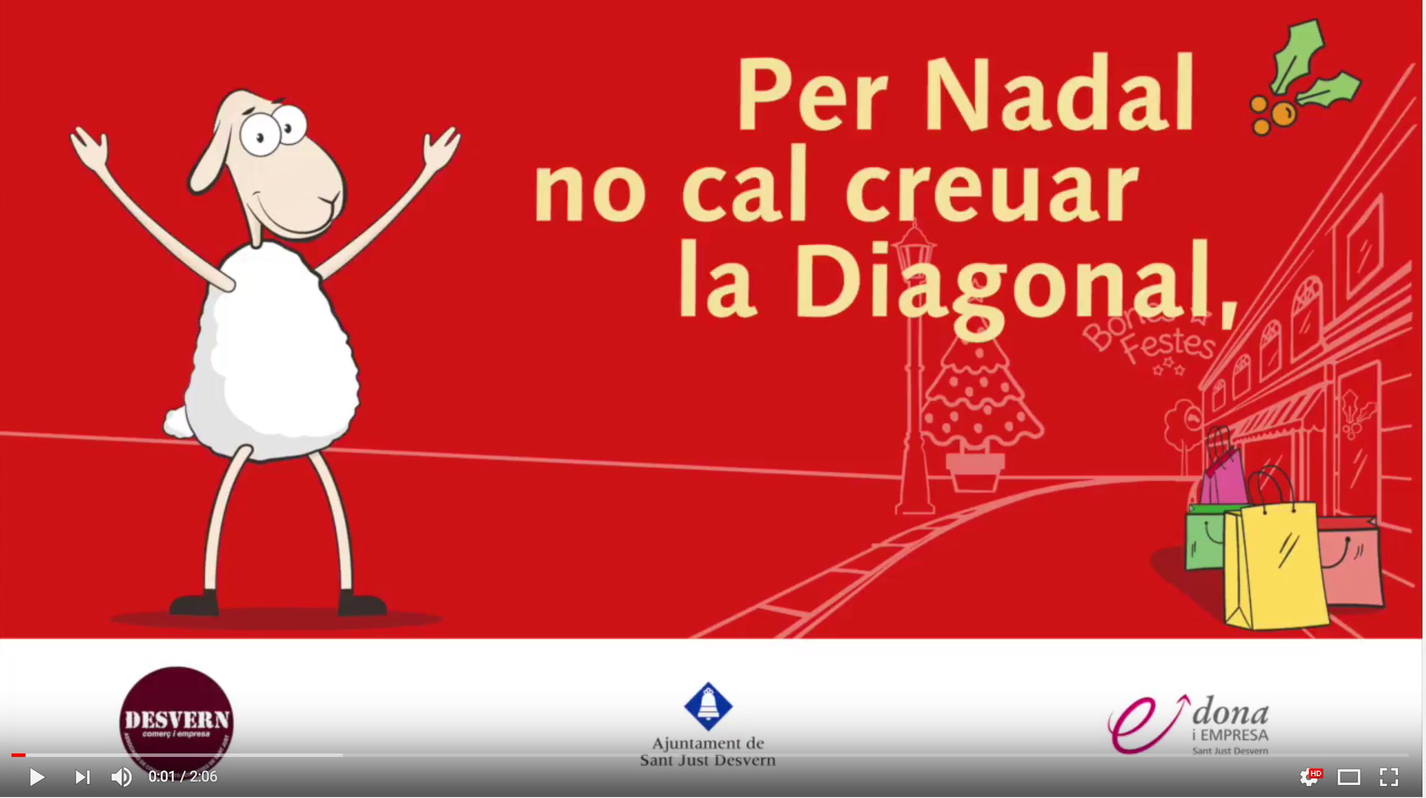 Per nadal no cal creuar la diagonal. Cada ovella al seu corral