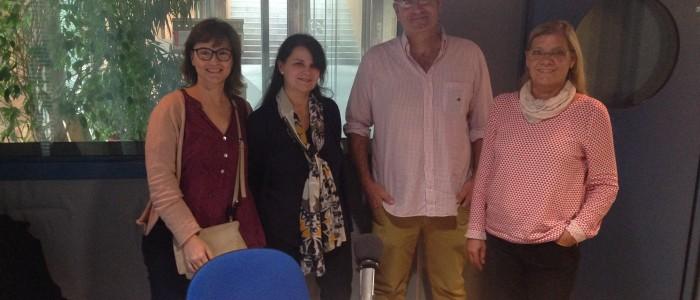 Ana Valverde, fotògrafa, Clara Micolau, advocada, Ferran Tost, regidor de comerç i Meritxell Camps de TIMIT